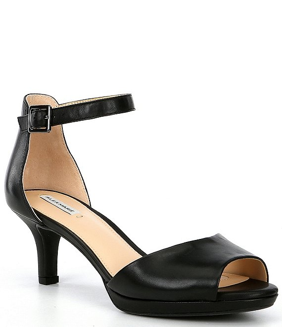 Alex Marie Bevali Leather Peep Toe Dress Sandals