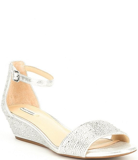 Color:Silver - Image 1 - Mairithree Rhinestone Wedges