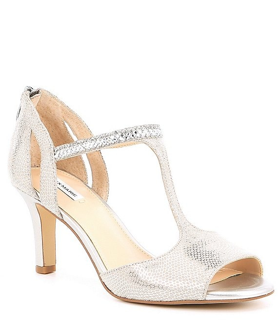 Alex Marie MelroyTwo Rhinestone T-Strap Dress Sandals