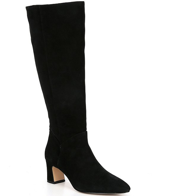 Color:Black - Image 1 - Pamilla Suede Tall Boots
