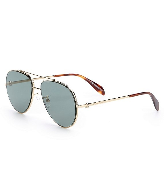 Color:Gold - Image 1 - Aviator Gold Sunglasses