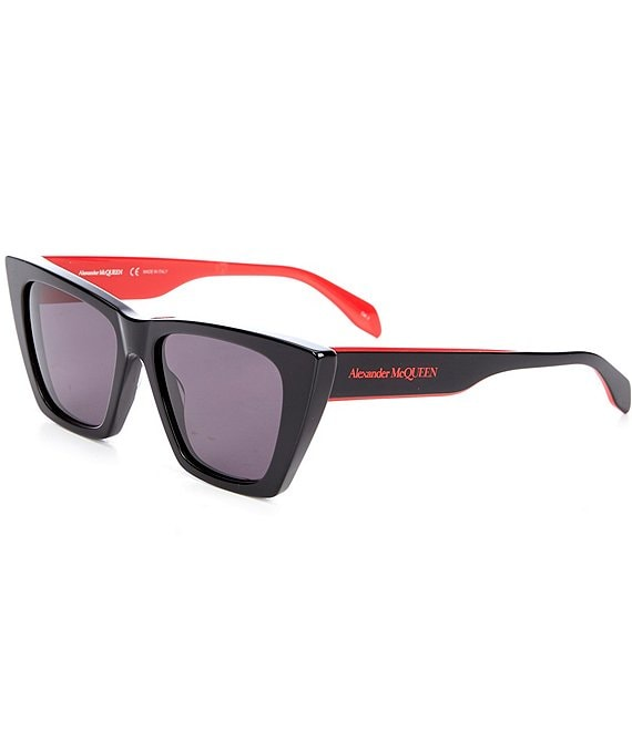 Color:Silver - Image 1 - Women's Cat Eye 54mm Sunglasses