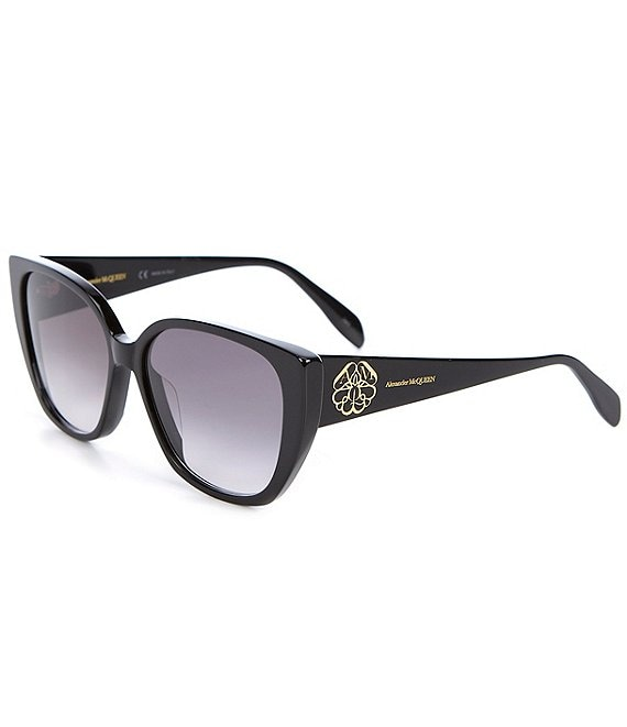 Color:Shiny Black - Image 1 - Women's Cat Eye 58mm Sunglasses