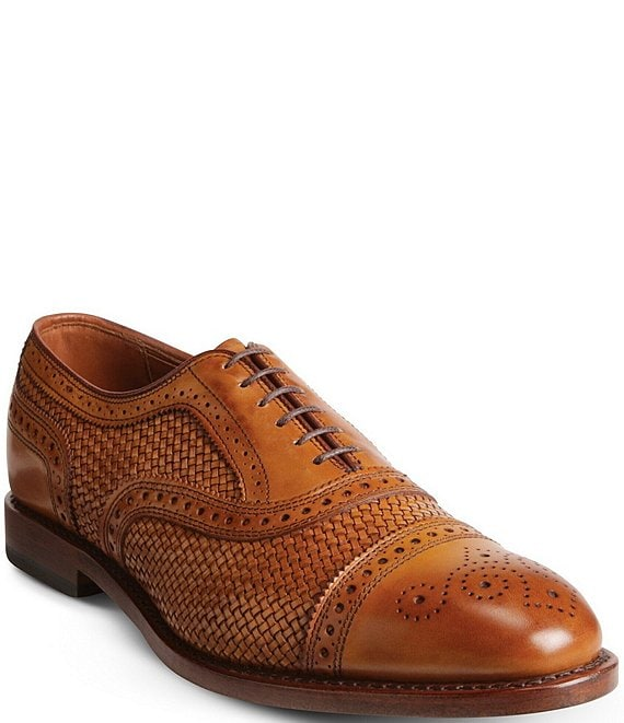 Color:Walnut - Image 1 - Men's Strand Weave Oxford