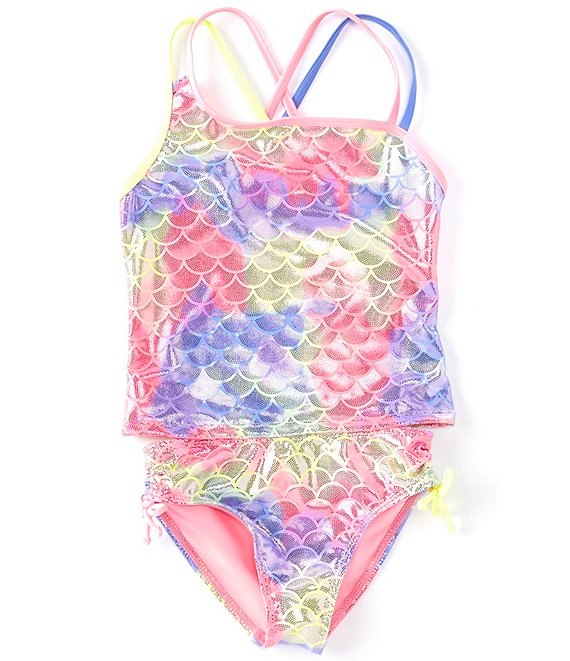 Color:Multi - Image 1 - Big Girls 7-16 Magical Ocean Mermaid Two-Piece Swimsuit