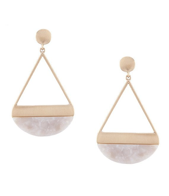 Anna & Ava Half Circle Drop Resin Earrings