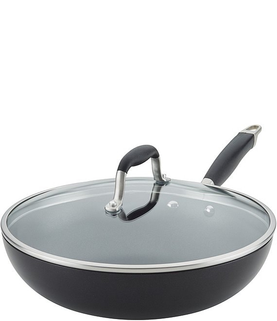 Color:Black/Grey - Image 1 - Anolon® Advanced Onyx Hard-Anodized Nonstick Covered Ultimate Pan