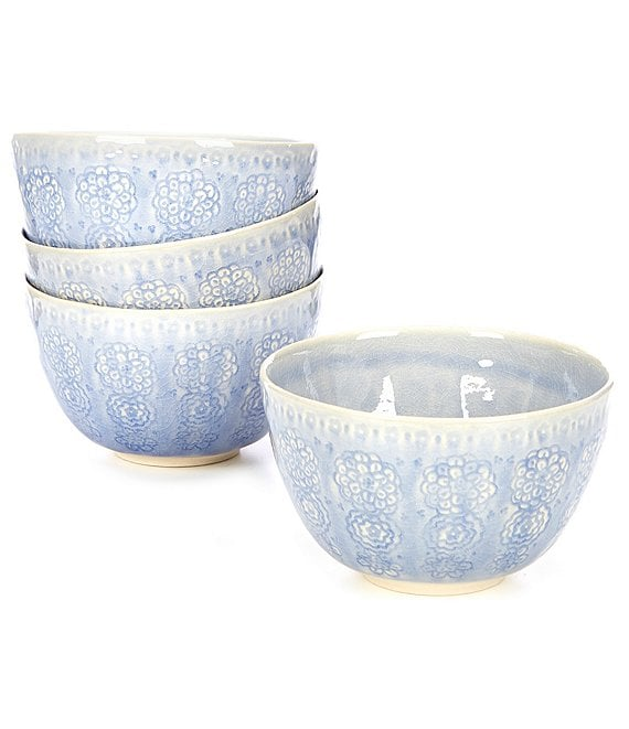 Anthropologie Home Veru Glazed Cereal Bowls, Set of 4