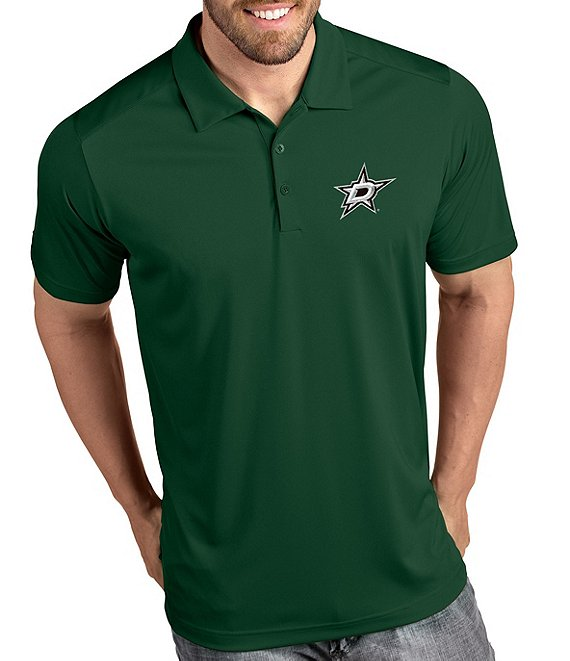 Color:Dallas Stars Green - Image 1 - NHL Tribute Short-Sleeve Polo Shirt
