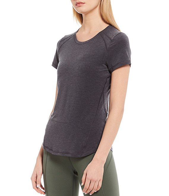 Color:Black - Image 1 - Balance Moisture Wicking Relaxed Crew Neck Tee