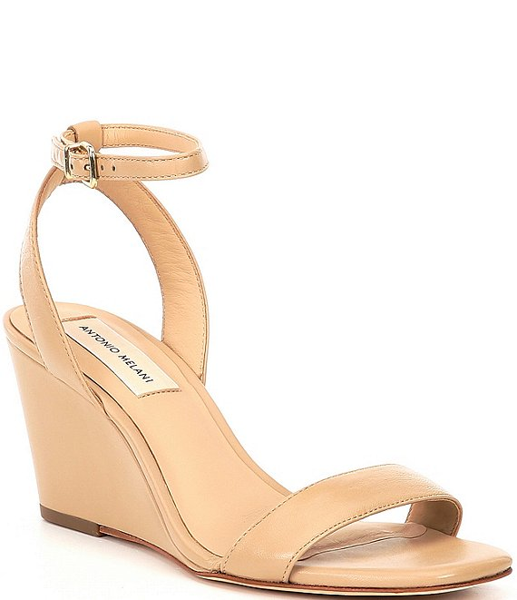 Color:Spanish Sand - Image 1 - Camdeynns Two Leather Dress Wedges