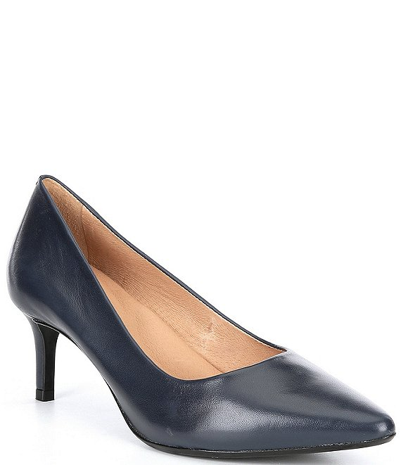 Color:New Navy - Image 1 - Elynda Leather Pumps