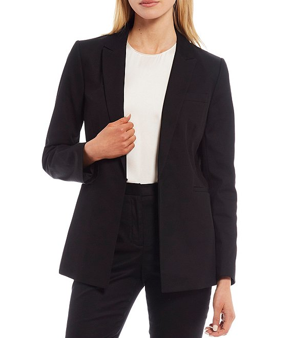 Color:Black - Image 1 - Emilia Long Sleeve Twill Jacket
