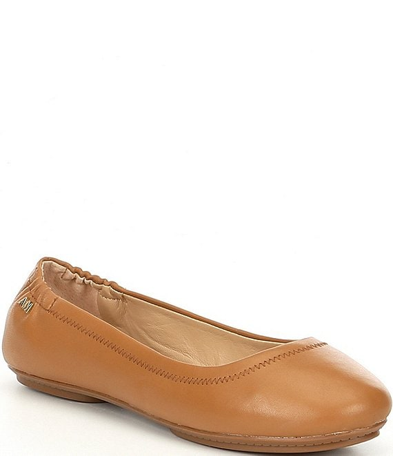 Color:Acacia Tan - Image 1 - Frederica Leather Round Toe Flats