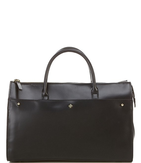 Color:Black - Image 1 - Kingsley Leather Satchel Bag