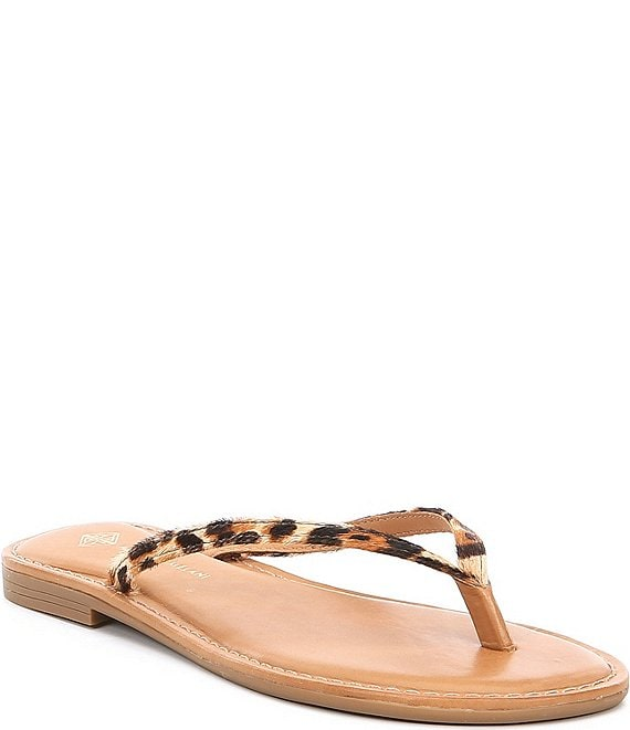 Antonio Melani Lagoona Leather Thong Sandals