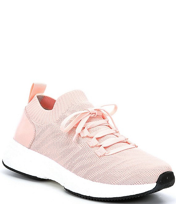 Color:Soft Pink - Image 1 - Liaann-A Lace-Up Trainers
