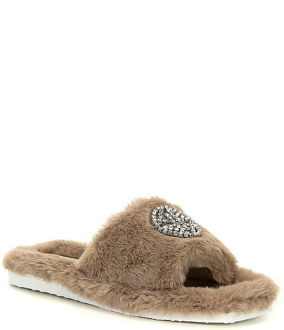 Color:Mink - Image 1 - Lushhh Faux Fur Slippers