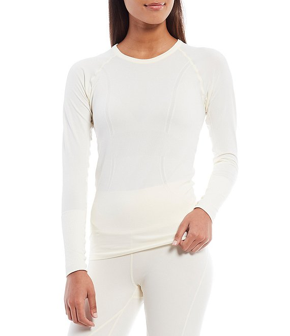 Color:Canvas - Image 1 - Mantra Long Sleeve 4-Way Stretch Light Weight Soft Top