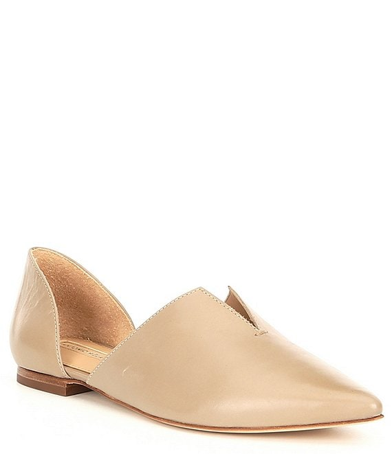 Color:Sabre Grey - Image 1 - Noora d'Orsay Leather Slip On Flats