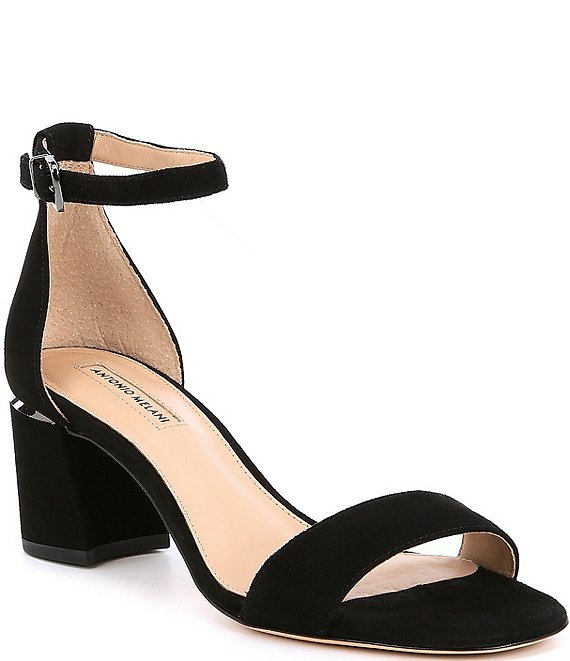 Color:Black - Image 1 - Odella Suede Dress Sandals