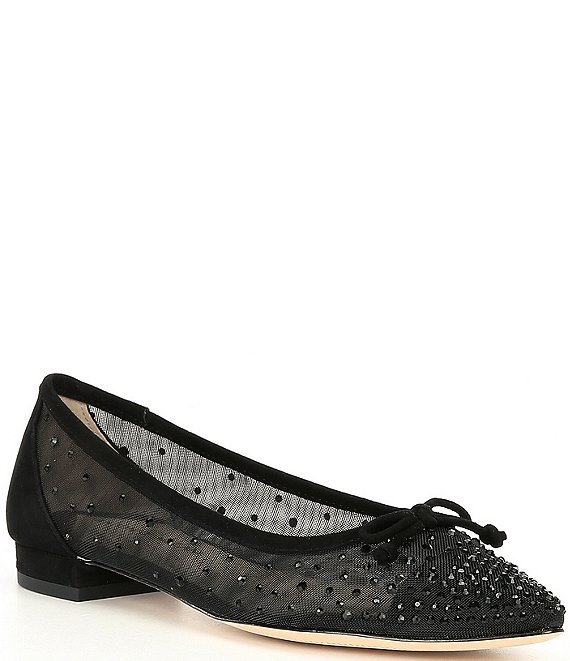 Color:Black - Image 1 - Pippo Embellished Ballet Flats