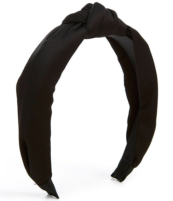 Color:Black - Image 1 - Solid Color Knotted Headband