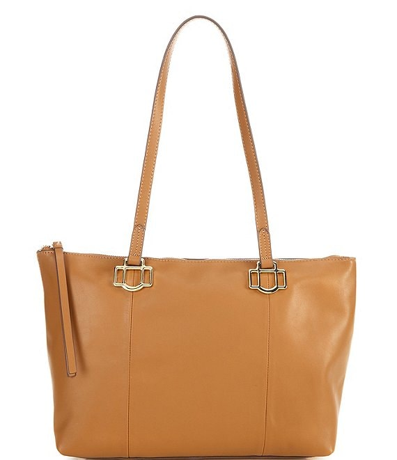 Color:Saddle - Image 1 - Statement Anchors Tote Bag