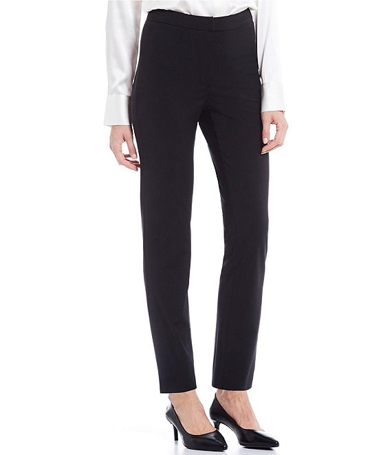Color:Black - Image 1 - Tallulah Wool Straight Pant