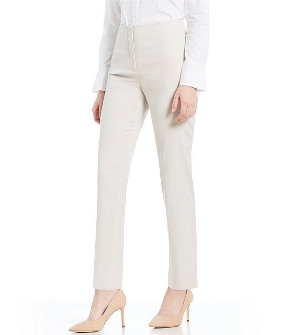 Color:Stone - Image 1 - Made with Loro Piana Fabric Theo Straight Leg Pants