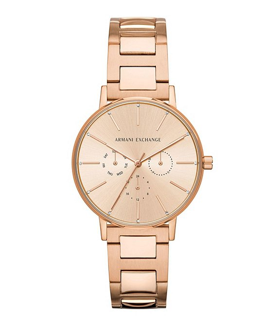 Armani Exchange Lola Rose Gold Stainless Steel Bracelet Watch