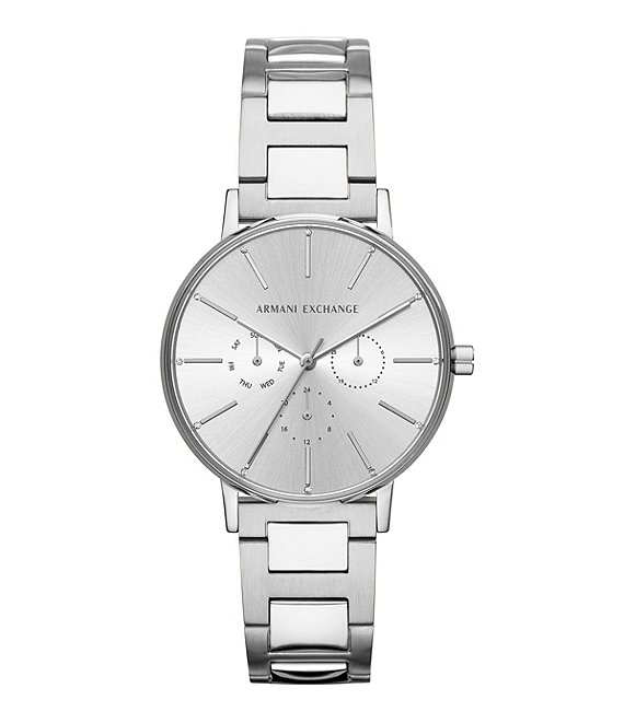 Armani Exchange Lola Silver Stainless Steel Bracelet Watch