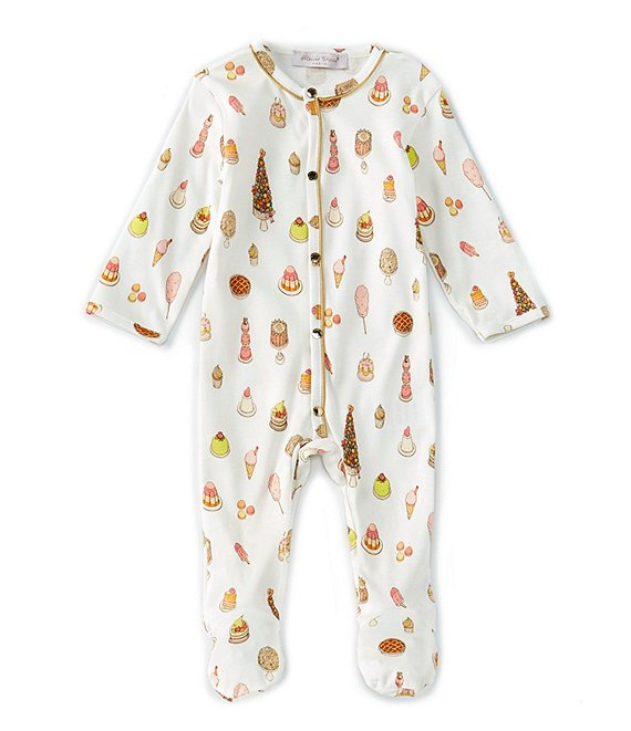 Atelier Choux Paris Baby Girls 3-6 Months Long-Sleeve Sweetie Pie Footed Playsuit