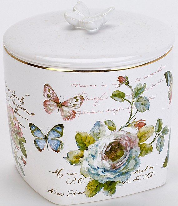 Avanti Linens Butterfly Garden Covered Jar