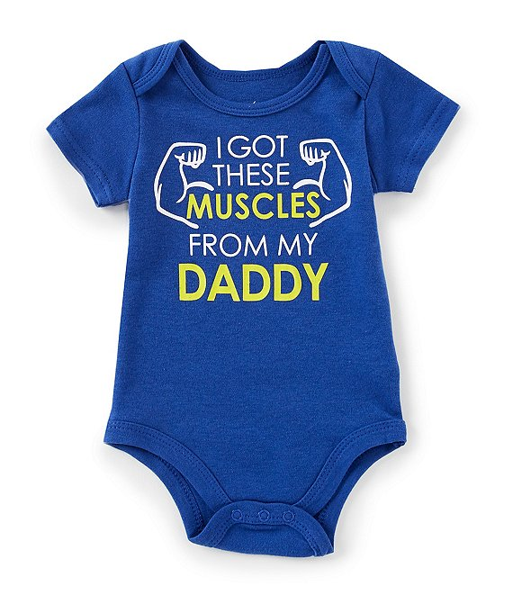 782b30ea7 Baby Starters Baby Boys Newborn-12 Months I Got These Muscles from My Daddy  Bodysuit | Dillard's