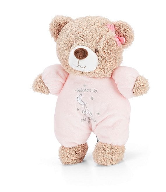 Little Me Baby Girls Welcome To The World Plush Bear