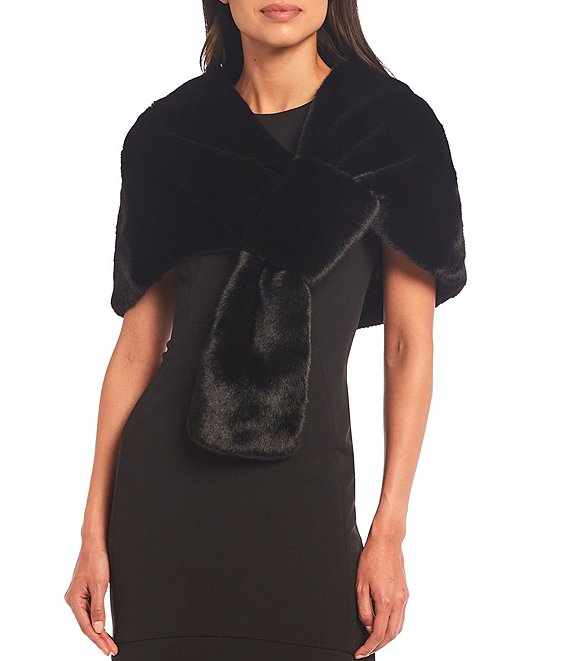 Badgley Mischka Women's Faux Fur Shoulder Stole