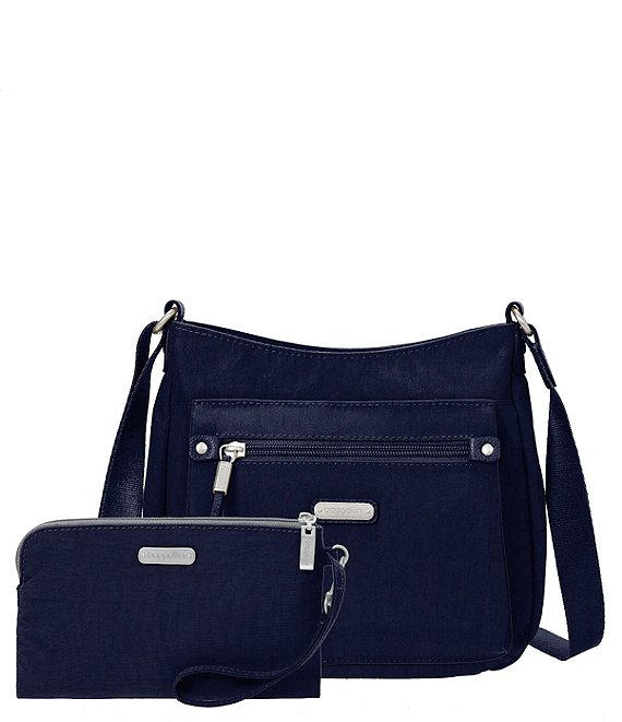 Color:Navy - Image 1 - Uptown Bagg with RFID Wristlet