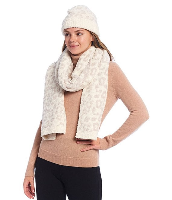 Color:Cream/Stone - Image 1 - Cozy Chic Collection In The Wild Beanie & Scarf Set