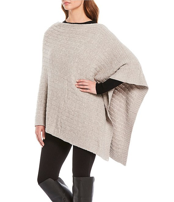 Barefoot Dreams Cozy Chic Lite Collection Cable Poncho