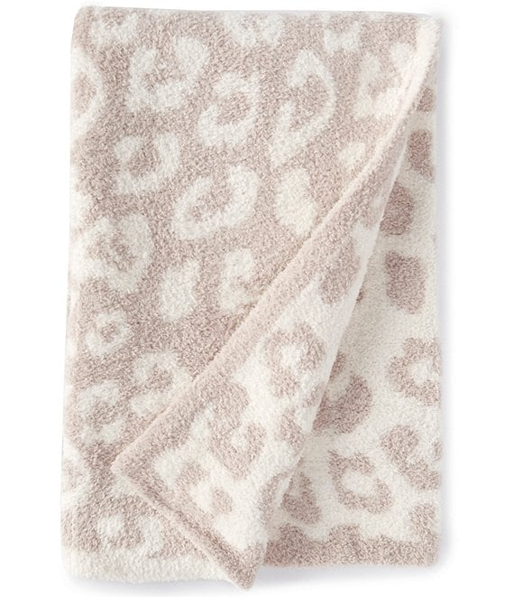 Color:Stone/Cream - Image 1 - CozyChic Barefoot In The Wild Baby Blanket