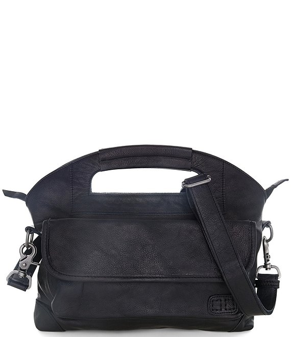 Color:Black Rustic - Image 1 - Greenway Medium Flap Satchel