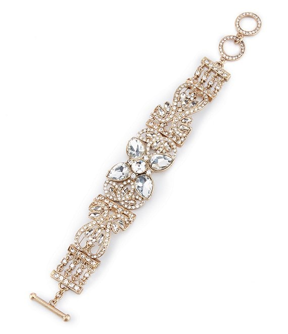 Belle Badgley Mischka Fancy Faux-Crystal Line Bracelet