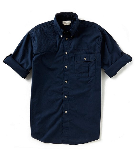 Color:Blue Total Eclipse - Image 1 - Roll-Up TM Shooting Long-Sleeve Woven Shirt