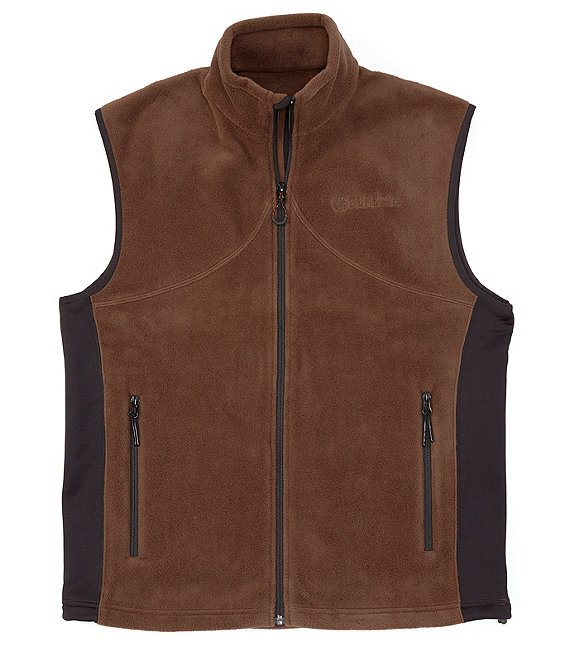 Color:Chocolate - Image 1 - Smarttech Full-Zip Fleece Vest