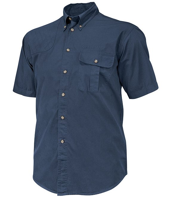 Color:Blue Total Eclipse - Image 1 - TM Short-Sleeve Woven Shooting Shirt