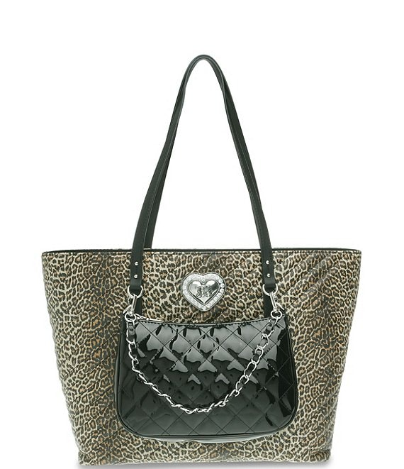 Color:Leopard - Image 1 - All The Things Tote with Removable Shoulder Bag