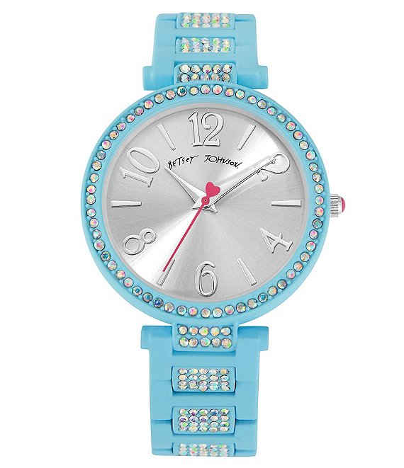 Betsey Johnson Matte Blue Link Bracelet Watch