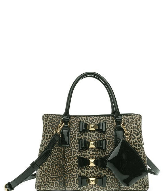 Color:Leopard - Image 1 - Stud Muffin Bow Satchel Bag