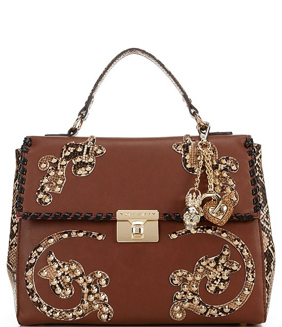 Betsey Johnson Western Studs Flap Satchel Bag